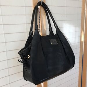 kate spade black Y2K nylon top handl zip close bag